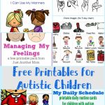 Free Printables For Autistic Children And Their Families Or Caregivers | Free Printable Schedule Cards
