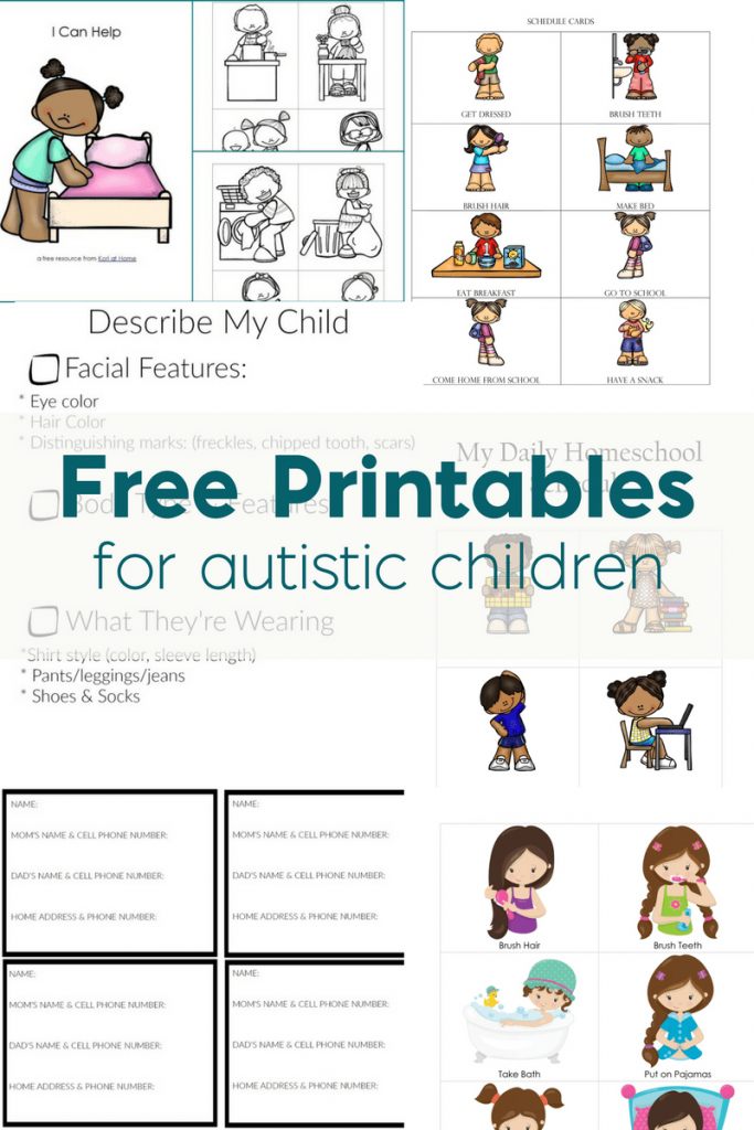 Free Printables For Autistic Children And Their Families Or Caregivers | Picture Cards For Autism Printable