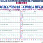 Free Printables | Free Printable Graduate Advice Cards   College | Free Printable Graduation Advice Cards
