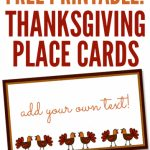 Free Printables: Thanksgiving Place Cards   Home Cooking Memories | Free Printable Thanksgiving Place Cards