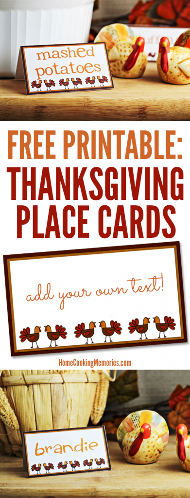 Free Printables: Thanksgiving Place Cards - Home Cooking Memories | Free Printable Thanksgiving Place Cards