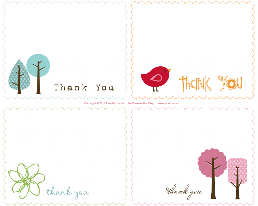 Free Prints | Free Printable Thank You Notes | June Lily | Custom | Free Printable Custom Thank You Cards