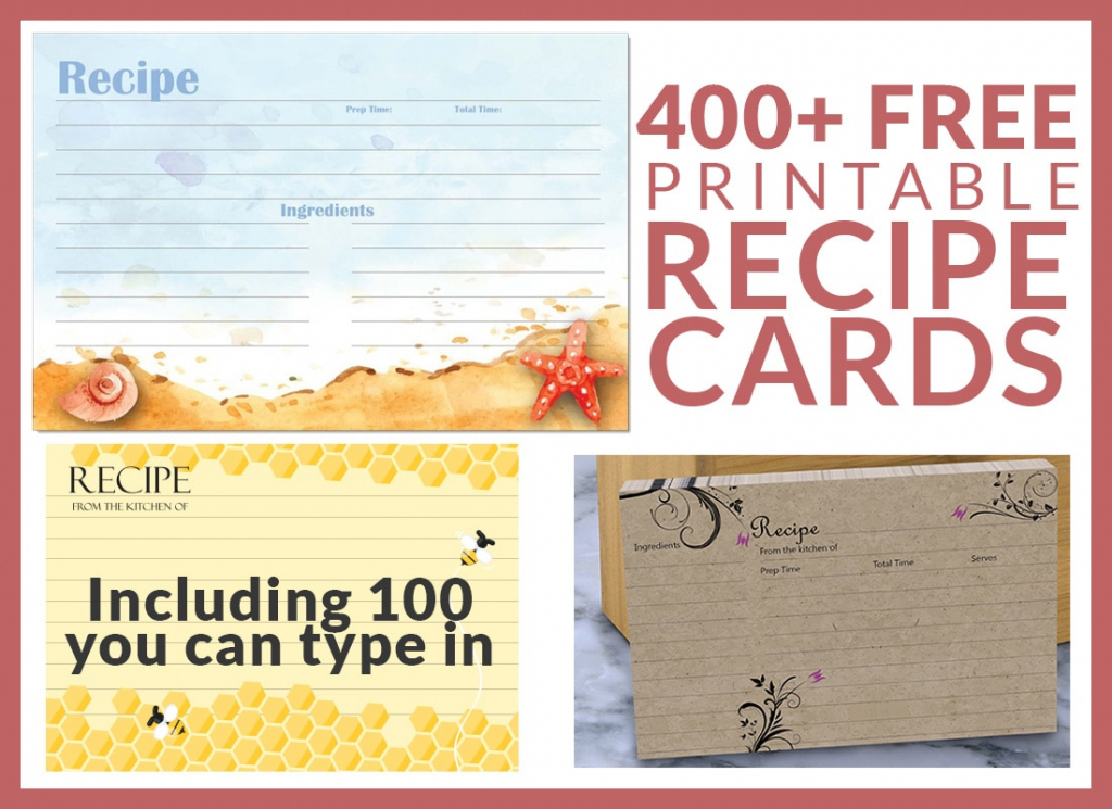 Free Recipe Cards - Cookbook People | Free Printable Photo Cards 4X6