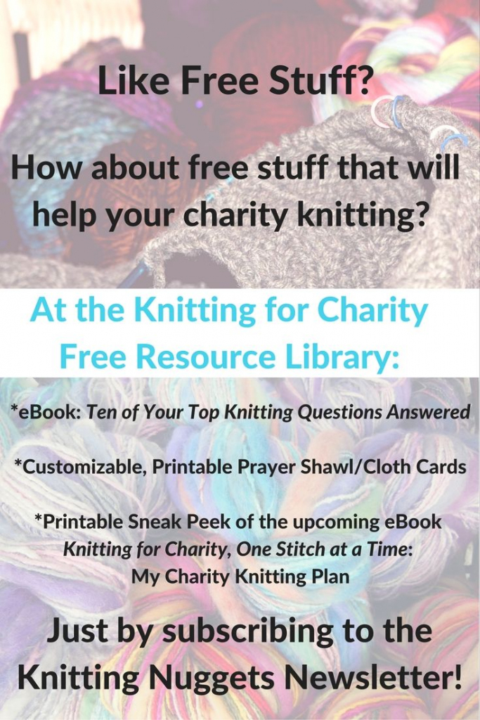 Free Resource Library - Sign Up Here | Knitting For Charity | Printable Prayer Shawl Cards