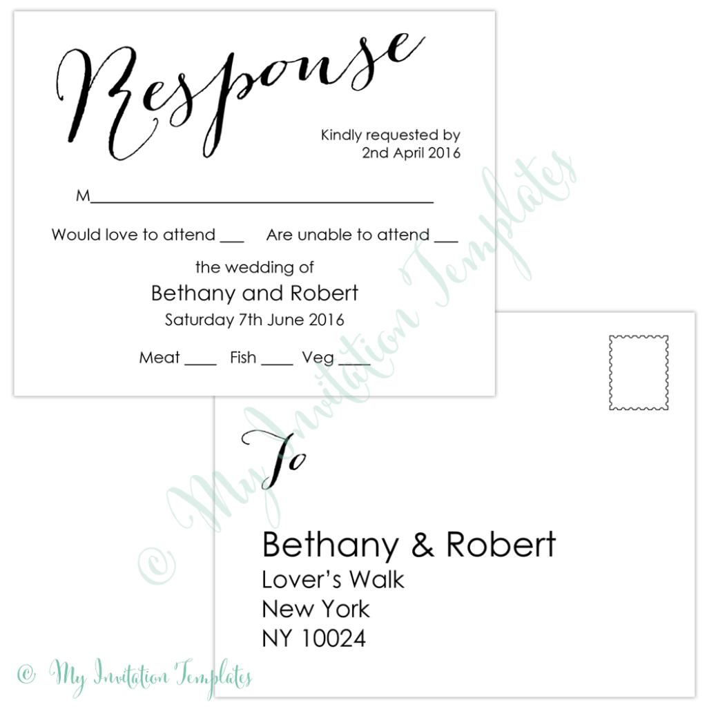 Free Rsvp Card Templates - Kleo.bergdorfbib.co | Free Printable Rsvp Cards