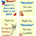 Free School Lunch Hero Day Printable Thank You Cards For Cafeteria | Printable Thank You Cards For Employees