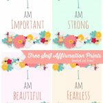 Free Self Affirmation Printables: Print Some Positivity – | Free | Free Printable Positive Affirmation Cards