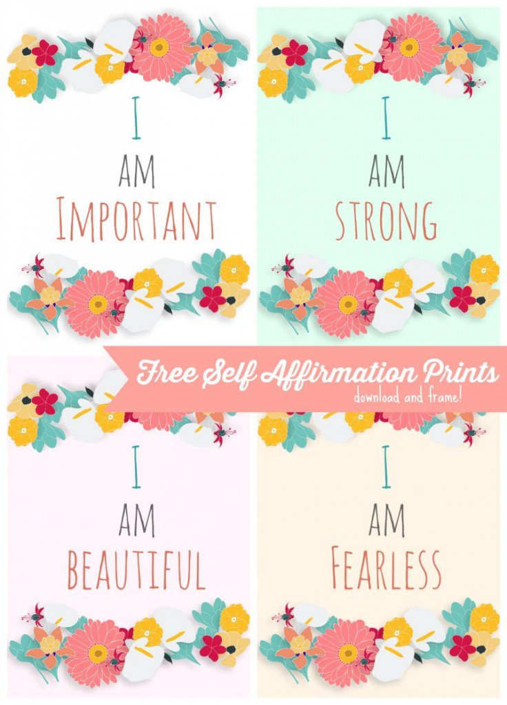 Free Self Affirmation Printables: Print Some Positivity - | Free | Free Printable Positive Affirmation Cards