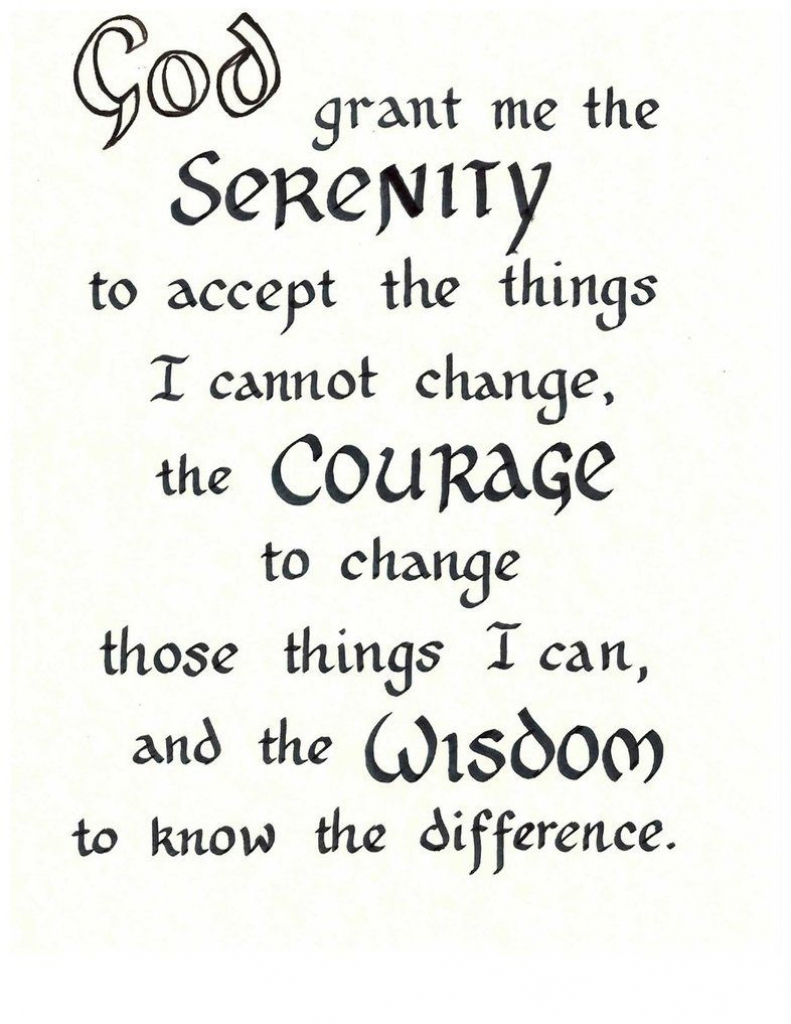 Free Serenity Prayer Printable Version | Serenity Prayer | Printable Serenity Prayer Cards