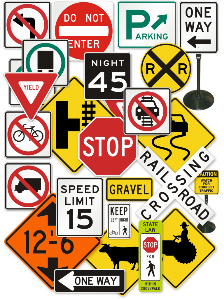 Free Signs, Download Free Clip Art, Free Clip Art On Clipart Library   Printable Road Signs Flash Cards
