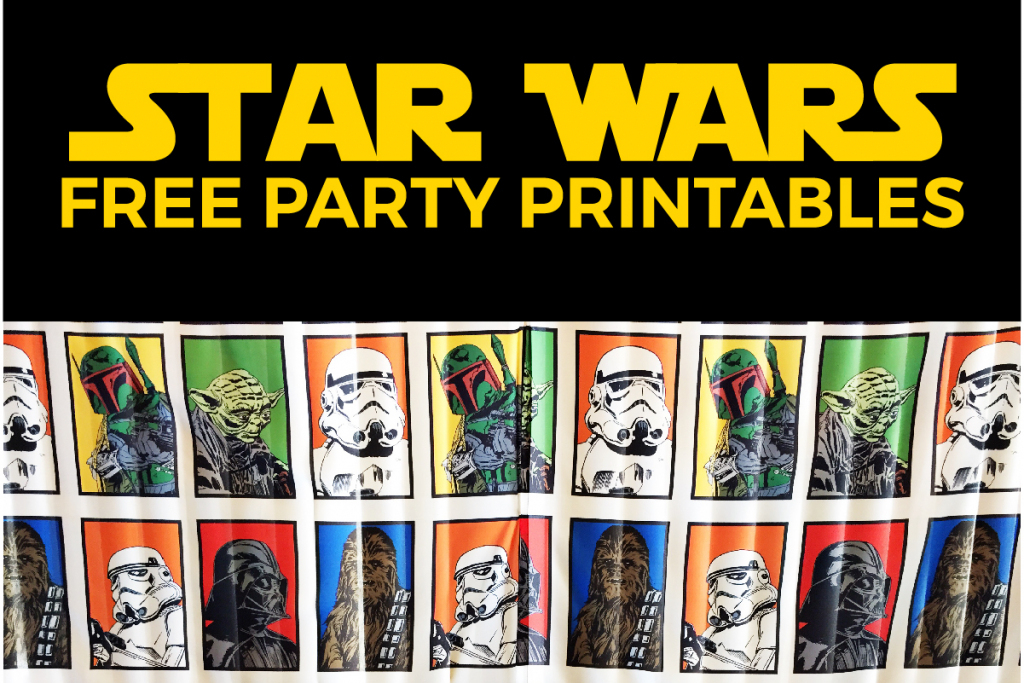 Free Star Wars Party Printables: A No-Stress Way To A Galactic Party | Star Wars Printable Cards Free