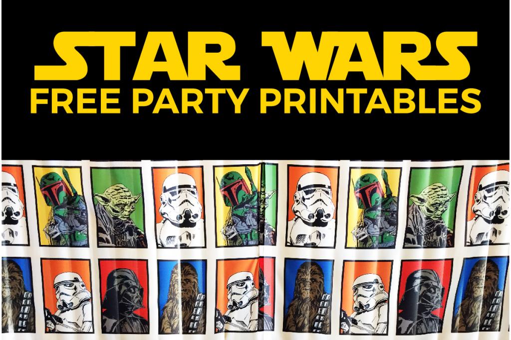 Free Star Wars Party Printables: A No-Stress Way To A Galactic Party | Star Wars Printable Cards Free