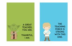Printable Star Wars Cards