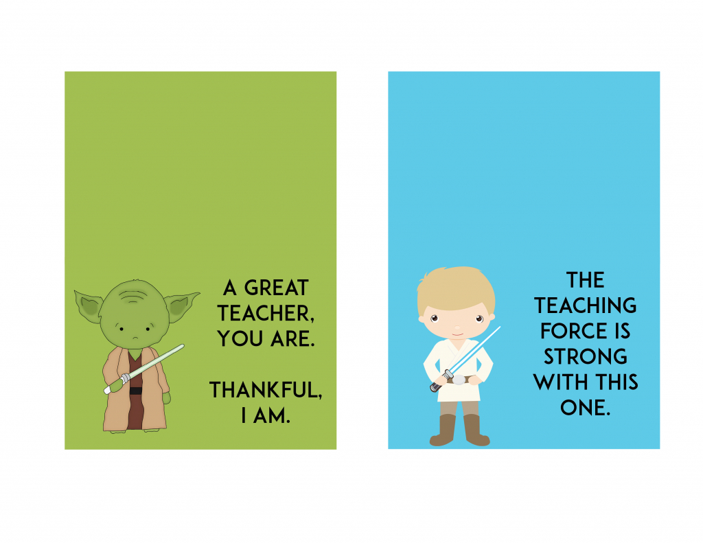 Free Star Wars Teacher Appreciation Day Printable - Ftm | Printable Star Wars Cards