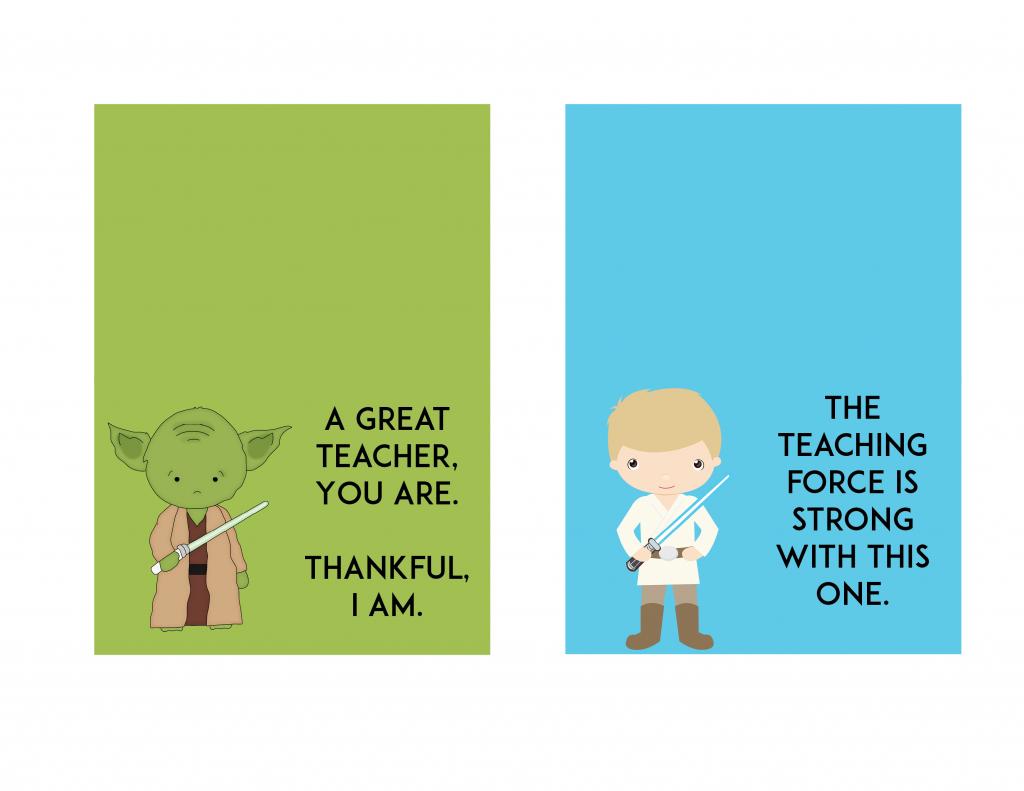 Free Star Wars Teacher Appreciation Day Printable - Ftm | Teachers Day Card Printable