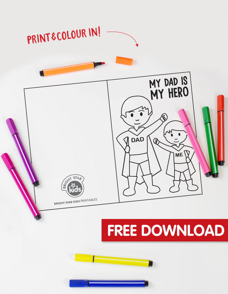 Free Super Dad Father's Day Printable | Super Dad Card Printable