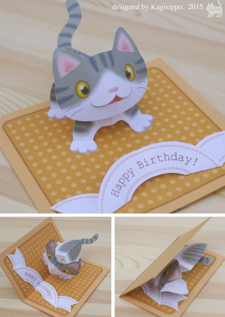 Free Templates - Kagisippo Pop-Up Cards_2 | Pop Up Cards | Pop Up | Free Printable Pop Up Birthday Card Templates