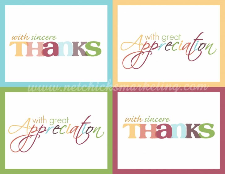 Thank You For Coming Cards Printable