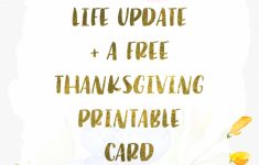 Free Thanksgiving Printable Card + Life Update | | The Golden Letter | Thanksgiving Printable Greeting Cards