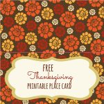 Free Thanksgiving Printables   Frugal Fanatic | Free Printable Thanksgiving Place Cards