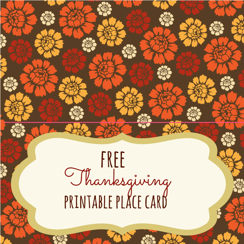 Free Thanksgiving Printables - Frugal Fanatic | Free Printable Thanksgiving Place Cards