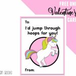 Free Unicorn Valentine's Day Cards Printable For Kids   Ruffles And | Printable Cards For Kids