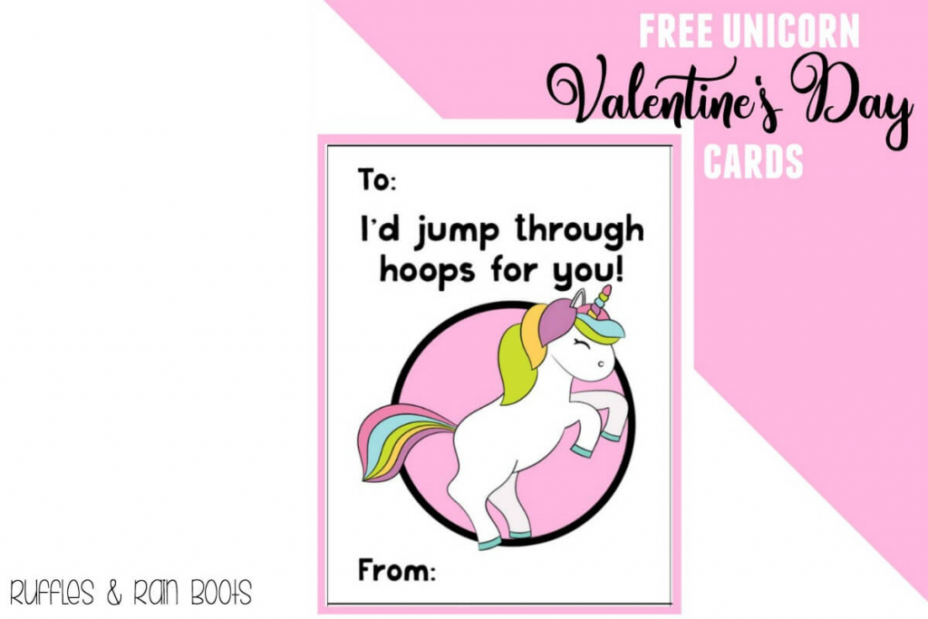 Free Unicorn Valentine's Day Cards Printable For Kids - Ruffles And | Printable Cards For Kids
