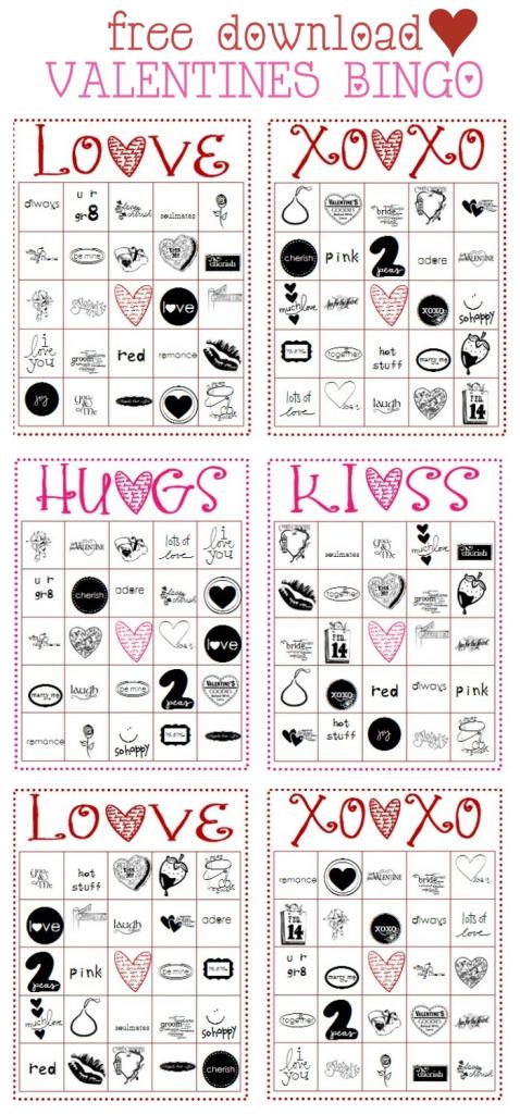 Free Valentines Bingo Cards | Free Printable Bingo Cards