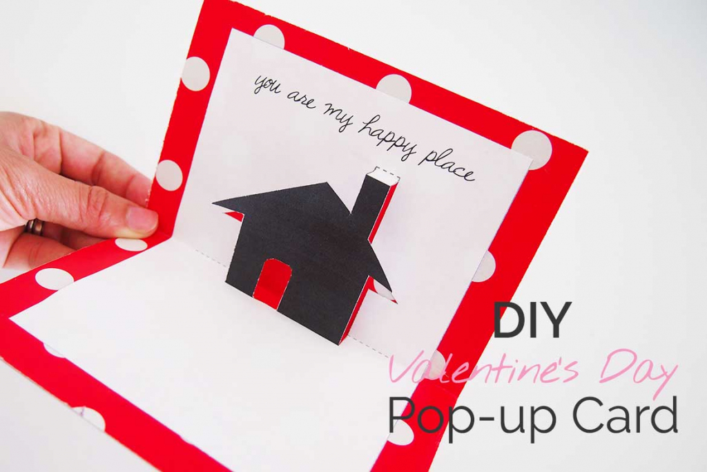 Free Valentines Day Printable Card: Cute Pop-Up! - Sew In Love | Valentine's Day Card Ideas Printables