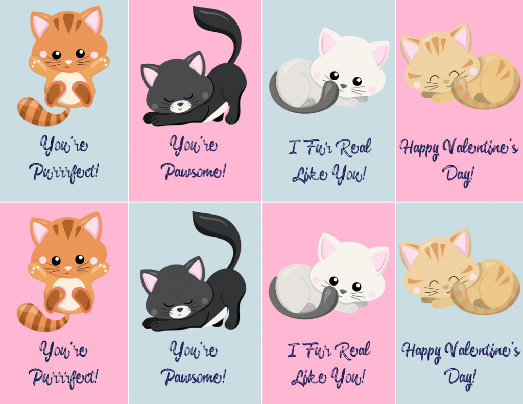 Free Valentine's Day Printables! | Budget Earth | Free Printable Cat Valentine Cards