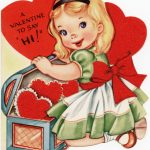 Free Vintage Image ~ A Valentine To Say Hi!   Old Design Shop Blog | Printable Vintage Valentines Day Cards