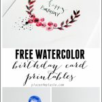 Free Watercolor Birthday Card Printables   Capturing Joy With | Free Printable Birthday Cards For Her