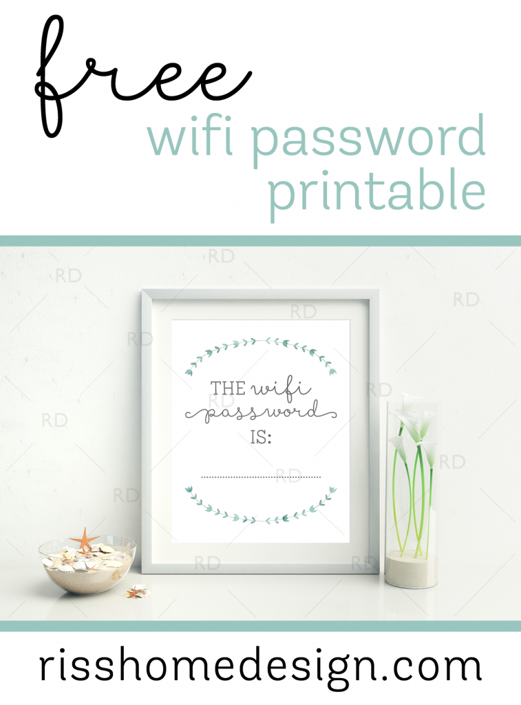 Free Wifi Password Printable For Your Home! Awesome To Display In A | Printable Guest Cards For Apartments