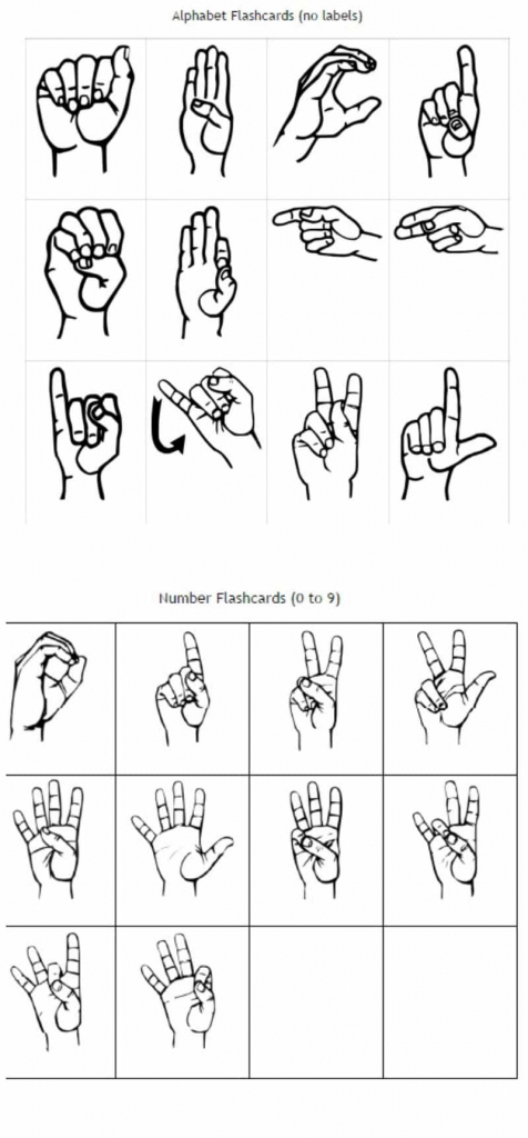 Freebie Friday: Free Printable Asl Alphabet Flashcards Pack | Sign Language Flash Cards Printables