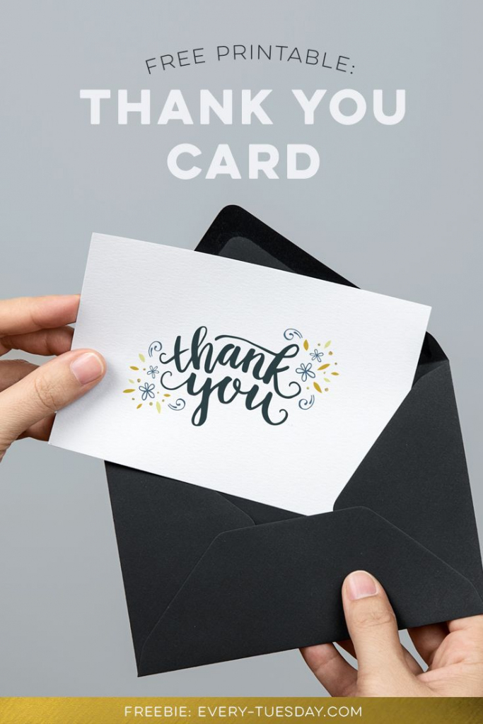 Freebie: Printable Thank You Card | Kaarten - Printable Thank You | Printable Thank You Cards Pdf