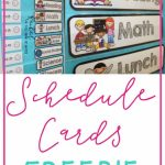 Freebie Schedule Cards | Classroom (When I Go Back :) | Classroom | Free Printable Schedule Cards For Preschool