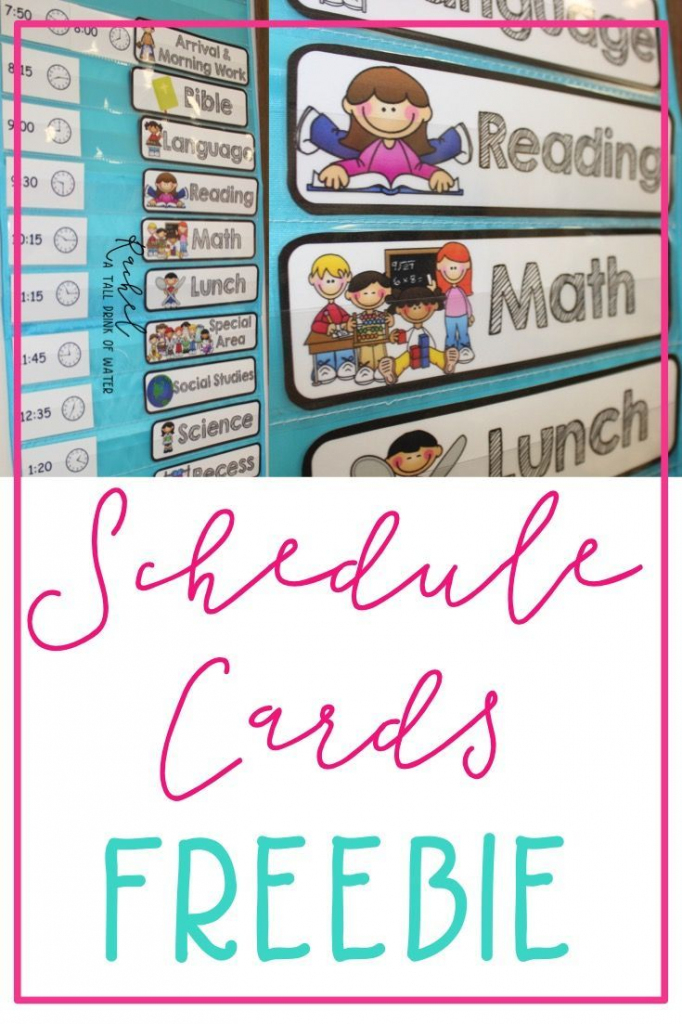 Freebie Schedule Cards | Classroom (When I Go Back :) | Classroom | Free Printable Schedule Cards