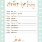 Freebie: Wish Cards | Ladies Class Baby Shower Ideas | Baby Shower | Printable Baby Shower Cards