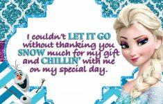 Disney Frozen Thank You Cards Printable