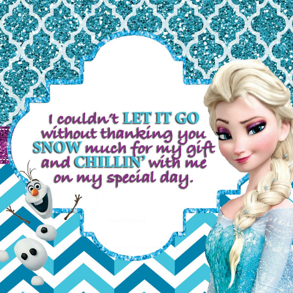 Frozen Birthday Party, Disney Frozen Printables, Frozen Party Pack | Disney Frozen Thank You Cards Printable