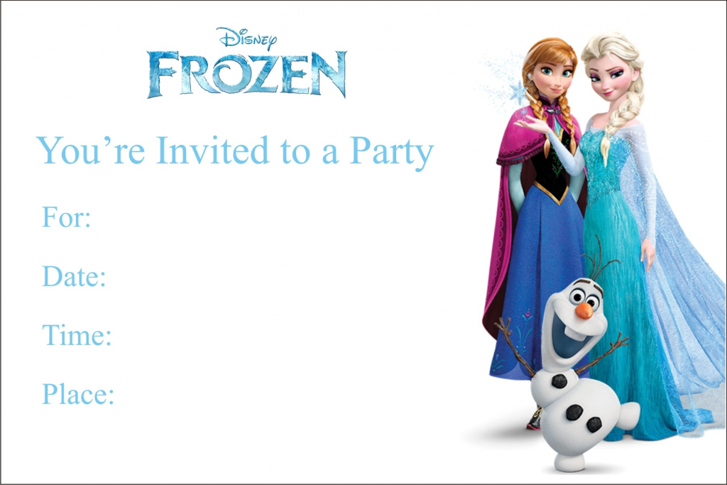 Frozen Free Printable Birthday Party Invitation Personalized Party | Free Printable Personalized Birthday Invitation Cards