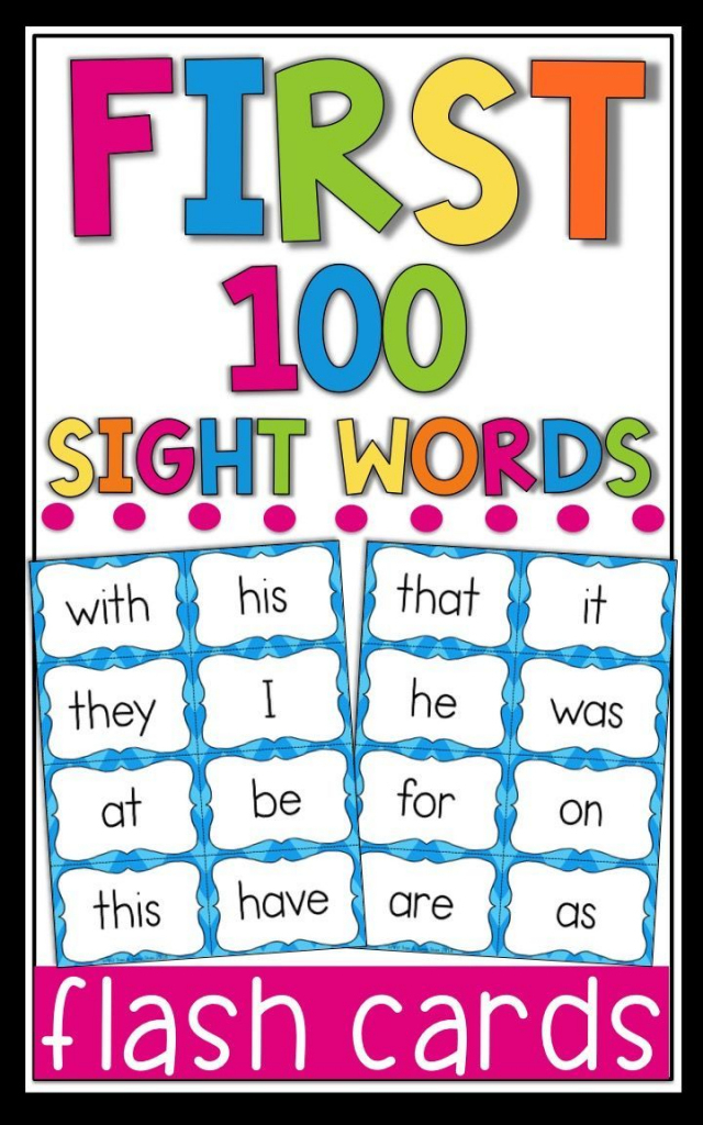Fry Sight Word Flash Cards - The First 100 - High Frequency Words | First 100 Sight Words Printable Flash Cards