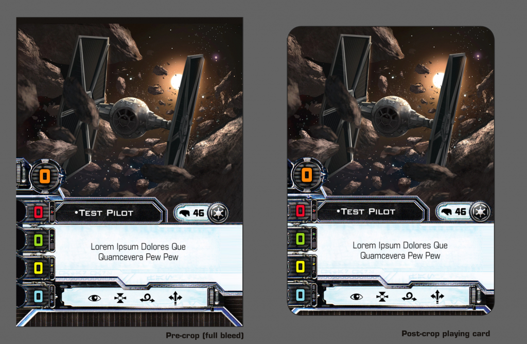 Full-Art Pilot Template Design For X-Wing Supremacy : Xwingtmg | X Wing Printable Cards