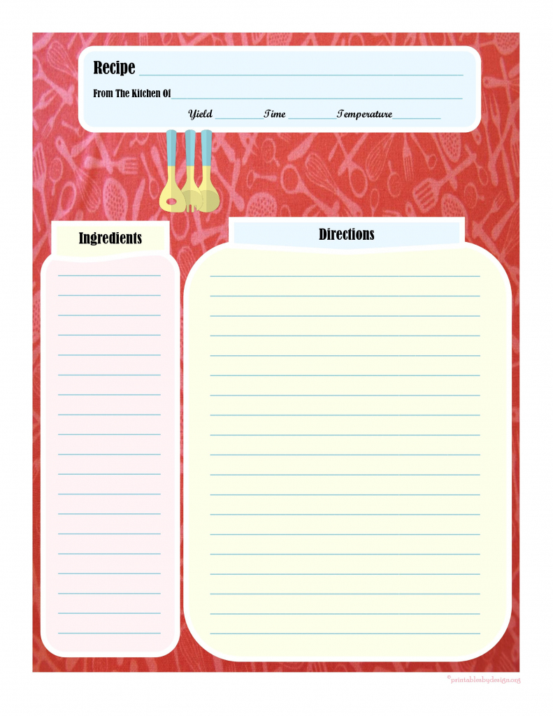 Full Page Recipe Card | Printable Recipe Cards | Printable Recipe | Homemade Card Templates Printable