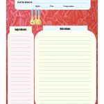 Full Page Recipe Card | Printable Recipe Cards | Printable Recipe | Printable Recipe Card Template