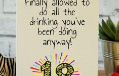 Funny 18Th Birthday Cards Printable