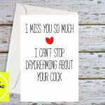Funny Miss You Miss You Cards Miss You Boyfriend Miss You | Etsy | I Miss You Cards For Him Printable