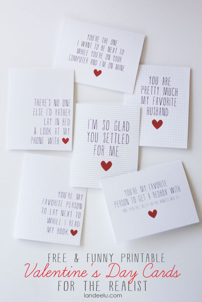Funny Printable Valentine's Day Cards | Valentines Day | Funny | Valentine's Day Cards For Her Printable