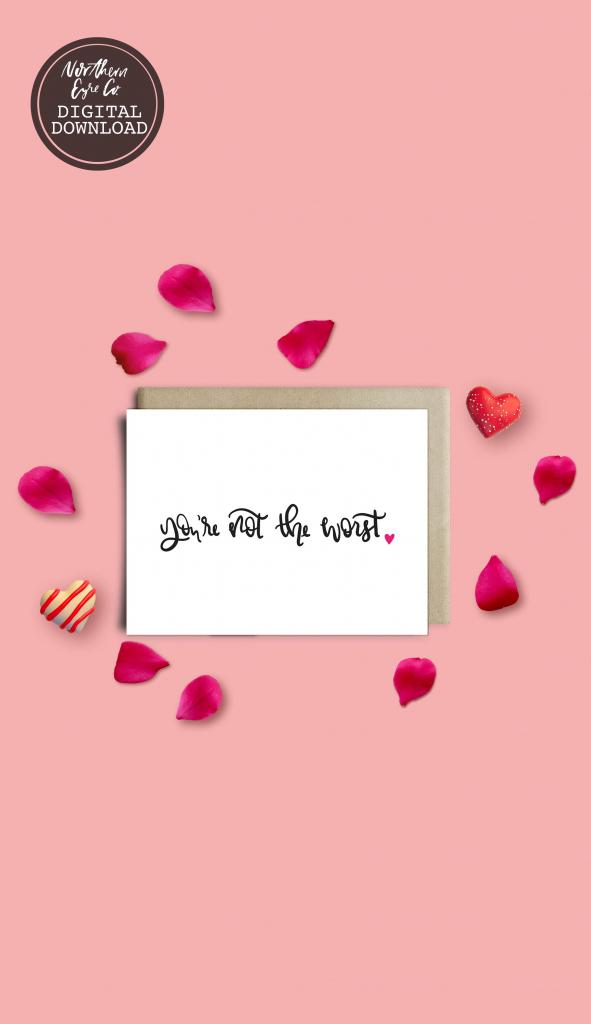 Funny Valentine's Card, Boyfriend Valentine's Card, Bestie Card | Funny Friendship Cards Printable