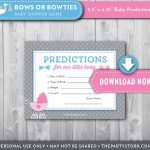 Gender Reveal Baby Shower Prediction Card Printable Cards | Etsy | Baby Shower Printable Prediction Cards